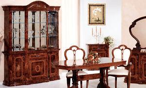 Buffetschrank glasvitrine wohnzimmerschrank nussbaum for Klassische mobel ebay