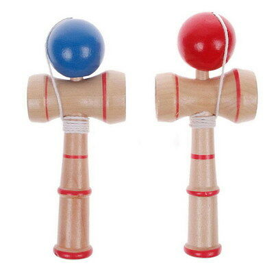 Affordable Kid Kendama Ball Japanese Traditional Wood Game Balance Skill Toy AU
