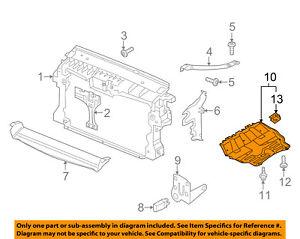 vw volkswagen oem tiguan under radiator engine splash shield cover rh ebay com 2010 vw tiguan engine diagram 2012 vw tiguan engine diagram