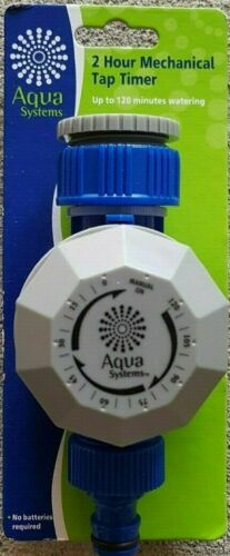 New Aqua Systems 2 Hour Plastic Tap Timer sprinkler extensions watering garden