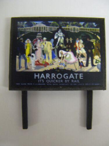 Model Railway Billboard N /& OO Gauge BR Harrogate
