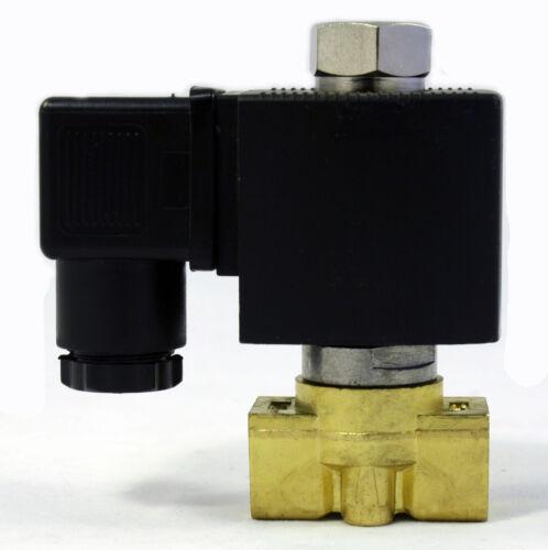 1//4 inch NORMALLY OPEN 12V DC VDC Brass Solenoid Valve NPT ONE-YEAR WARRANTY