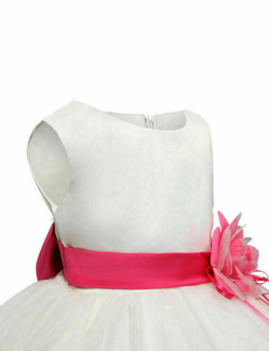 3-9 year Flower Princess Dress Girl Party Wedding Bridesmaid Birthday Tutu Dress