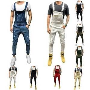 Mens-Overalls-Ripped-Denim-Jeans-Cargo-Dungarees-Bib-Jumpsuit-Long-Pants-Bottoms