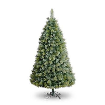 8ft Breckenridge Frosted Pine Artificial Christmas Tree PE ...