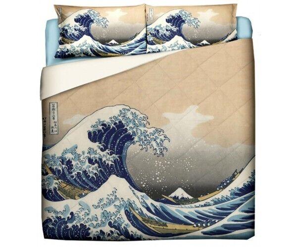 Trapunta Hokusai- La Grande Onda   singola, una piazza e mezza, matrimoniale