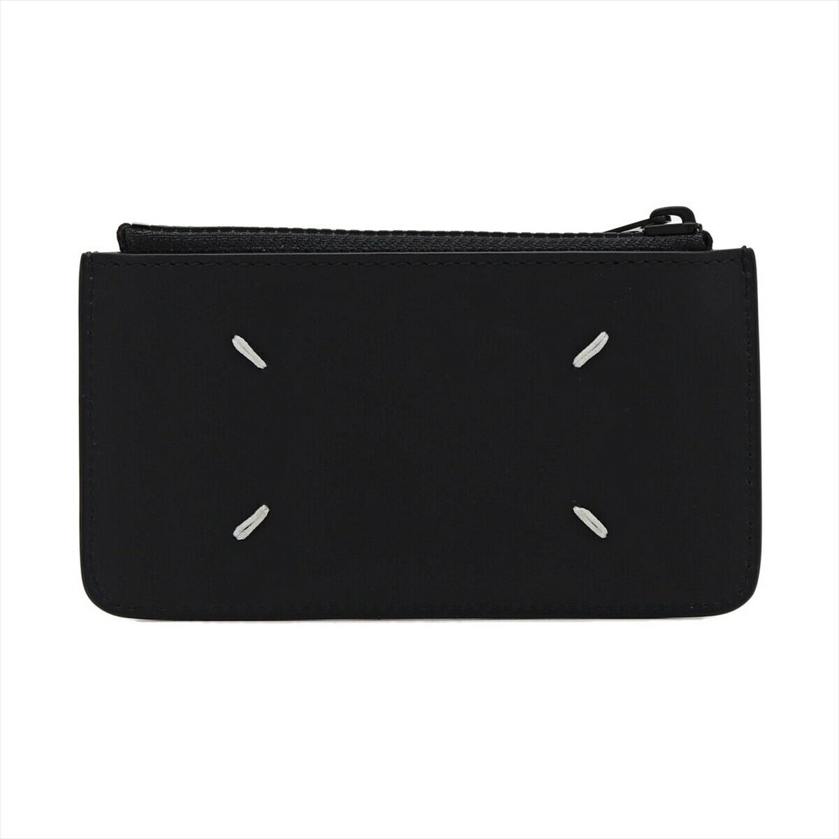 Maison Margiela S55UA0023 PS935 Leather Card Case Black New