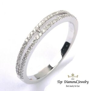 c3e4f9aa2a547 Details about Round Diamond Eternity Band 14 Karat White Gold Stackable  Wedding Ring 0.24ct
