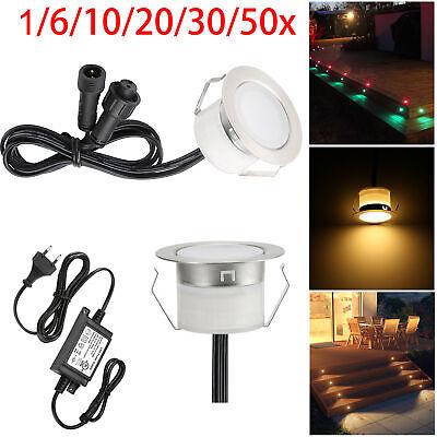 Φ30mm 12V LED Boden Einbaustrahler Leuchte Terrasse Spot Lampe Beleuchtung Set