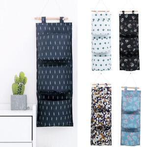 HO-3-Pockets-Wall-Door-Closet-Hanging-Storage-Organizer-Pocket-Pouch-Bag-Call