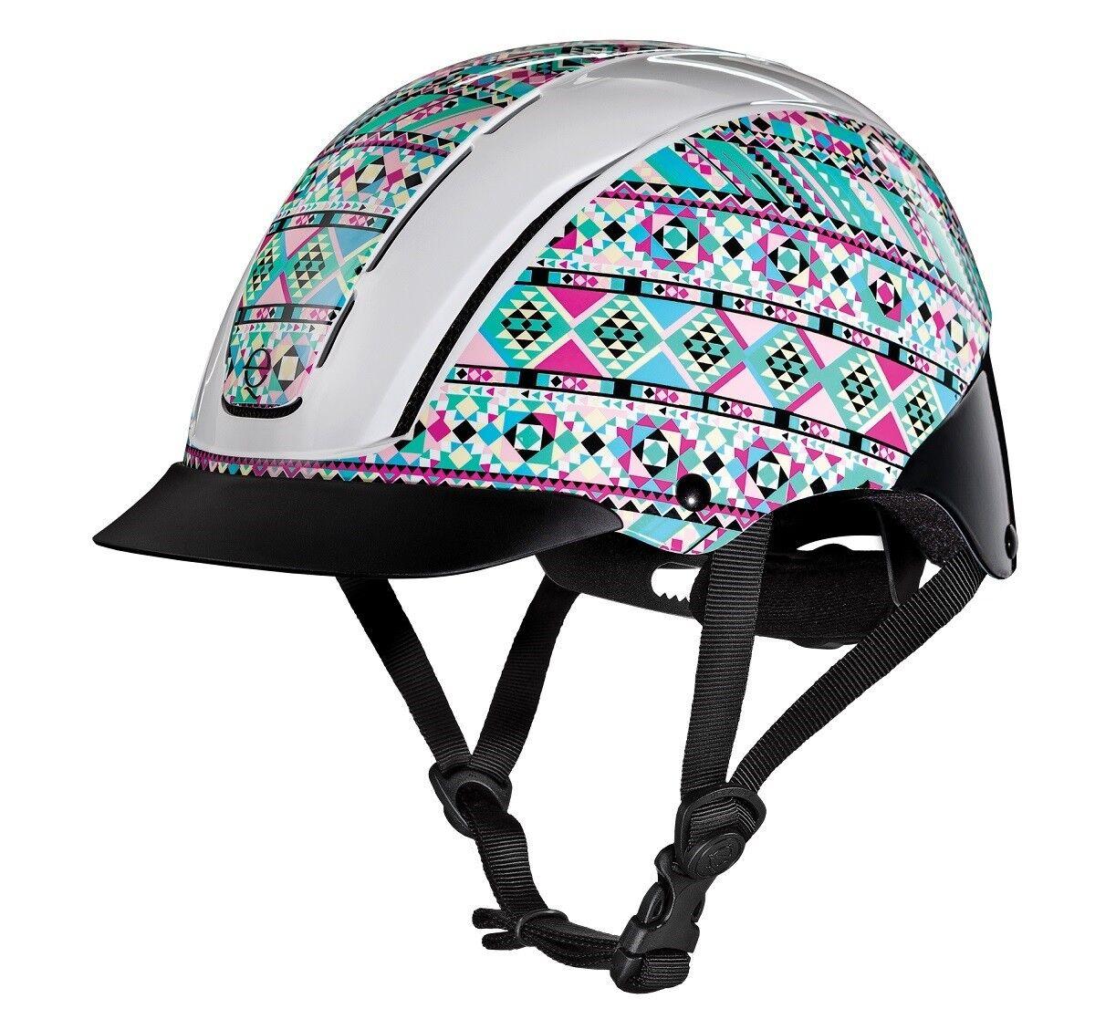 Troxel Spirit KALEIDOSCOPE Light Safety Horse Riding Training Adjustable Helmet