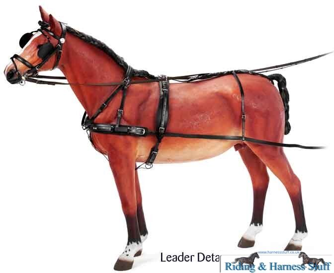 Zilco Classic Carriage Driving Harness Tandem Leader Pony, Cob, Full