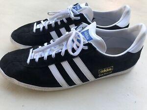 Men's Adidas Gazelle OG Original Black White Suede/Leather Trainer ...