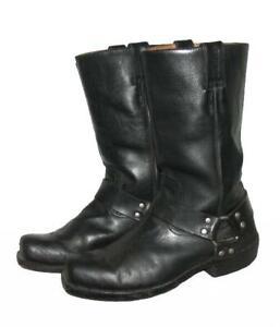 STARK-034-HIGHWAY-1-034-Biker-Stiefel-Lederstiefel-Boots-schwarz-ca-Gr-44
