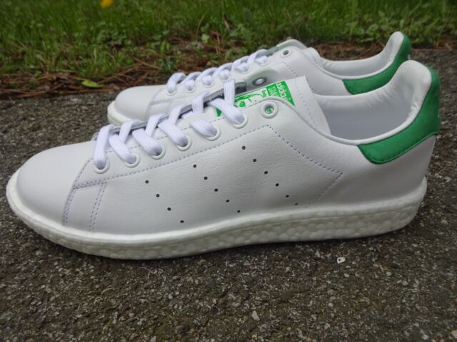 new product 41f6f 11fb9 Adidas Boost Stan Smith White w/Green Suede BB0008 men's shoes sneakers  trainers