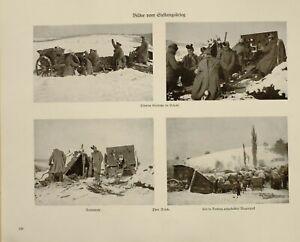 1916 Wwi Ww1 Imprimé Allemand Magazine ~ Position De Guerre Cease Fire ~ Waggon
