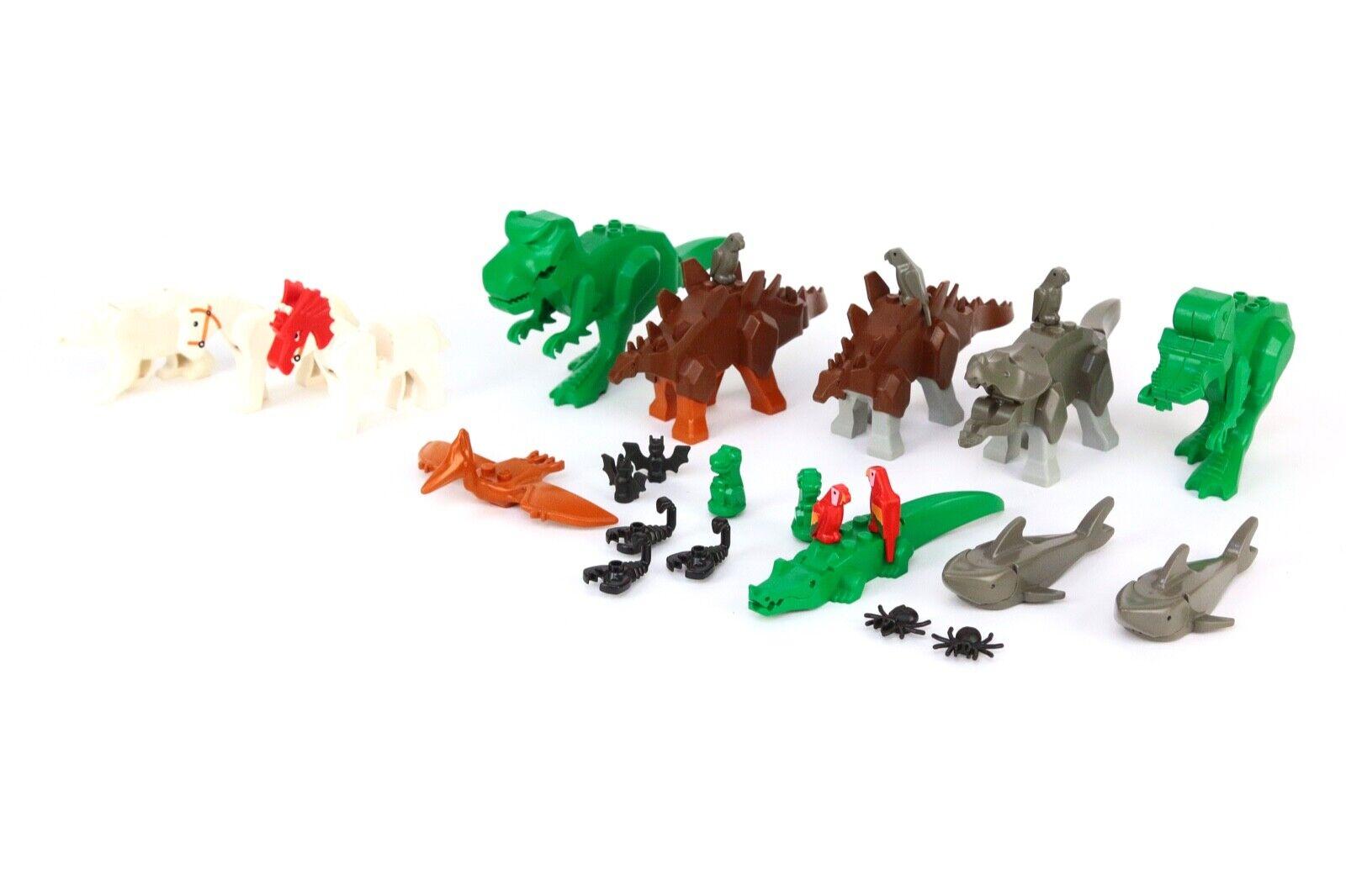 Lego djur massa av 26 Dinosauri  Parröd   Shark   häst   Alligator Polar Bear