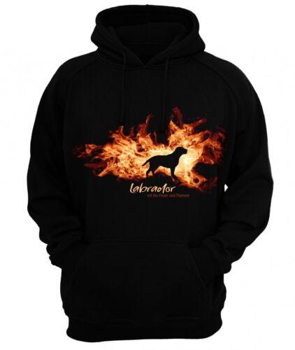 Sweat-Shirt Labrador feu et flamme by siviwonder hoodie