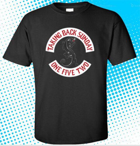 TAKING BACK SUNDAY Rock Band Logo Men/'s Black T-Shirt Size S to 3XL