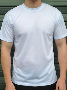 49087c40 Details about Kids/Childrens 100% Polyester Plain Blank White T shirts,Dye  Sublimation