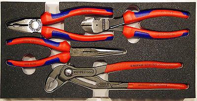 Knipex Plier Set in EVA Foam 03 02 180 / 26 12 200 / 74 12 180 / 87 01 250