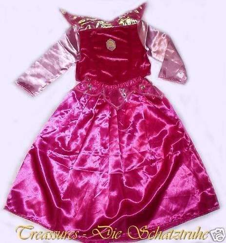 122//128 Kleid Ballkleid DISNEY DORNRÖSCHEN PRINZESSIN KOSTÜM Rosa Pink 110//116