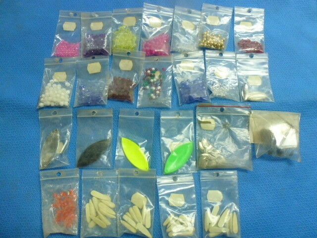 Assorted Fishing Lure Components For Making Lures and Trolling Rigs Beads,Spoons