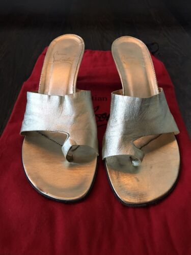Christian Louboutin Pale Gold Thong Sandal