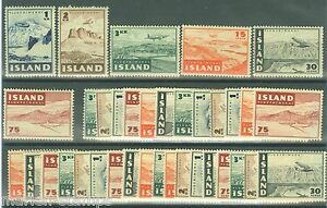 ICELAND-SCOTT-621-26-LOT-OF-SIX-COMPLETE-SETS-MINT-NH
