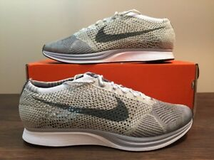 quality design 2a4fc ebd19 Image is loading Nike-Flyknit-Racer-Pure-Platinum-Earth-Tones-862713-