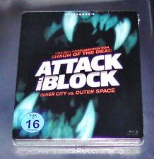ATTACK THE BLOCK  LIMITIERTE STEELBOOK EDITION BLU RAY  NEU & OVP