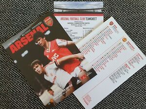 Arsenal-v-Manchester-United-Programme-with-Teamsheet-1-1-20-FREE-UK-DELIVERY