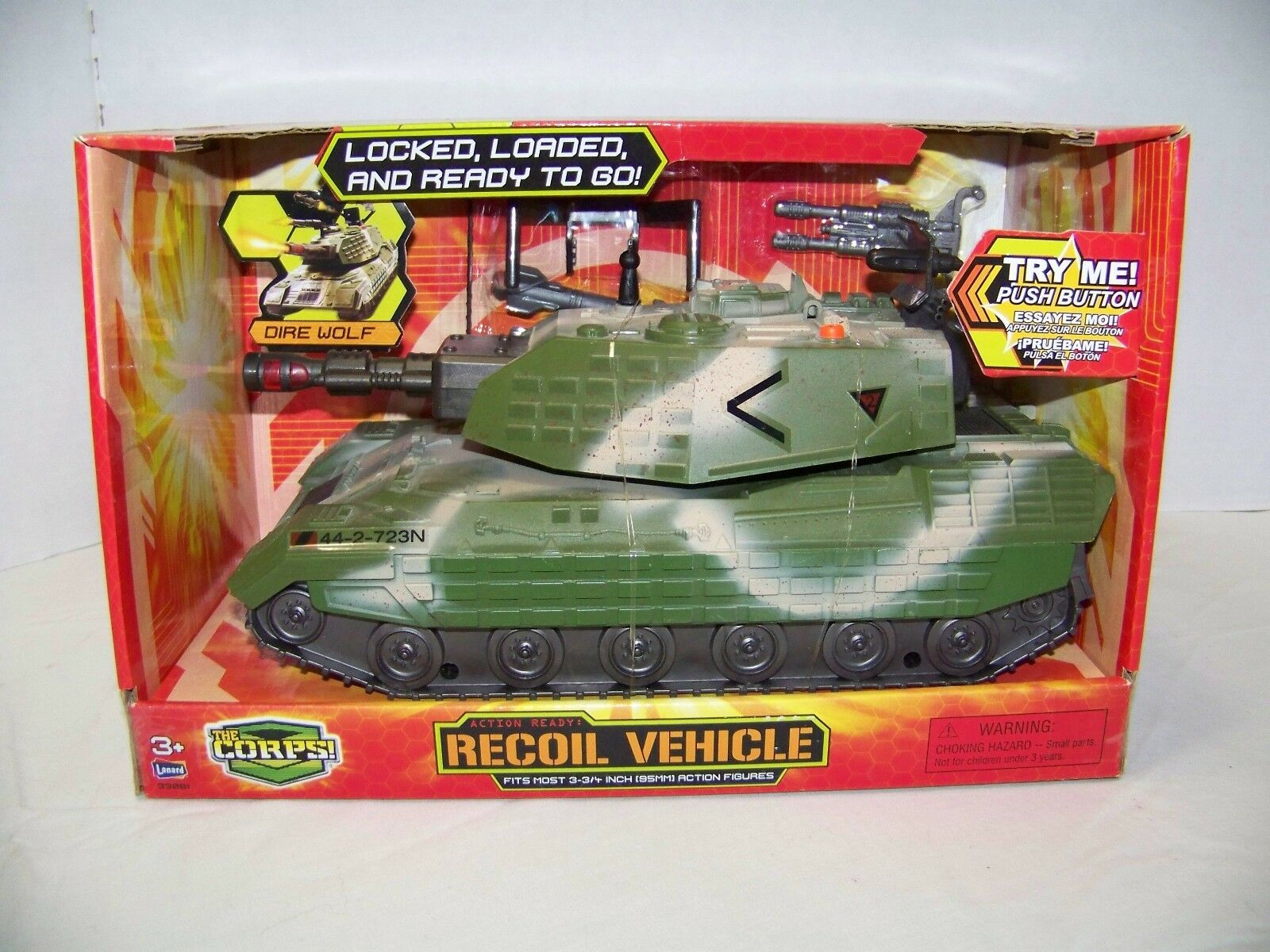 NEW LANARD TOYS THE CORPS DIRE WOLF TANK RECOIL VEHICLE ELECTRONIC 2011