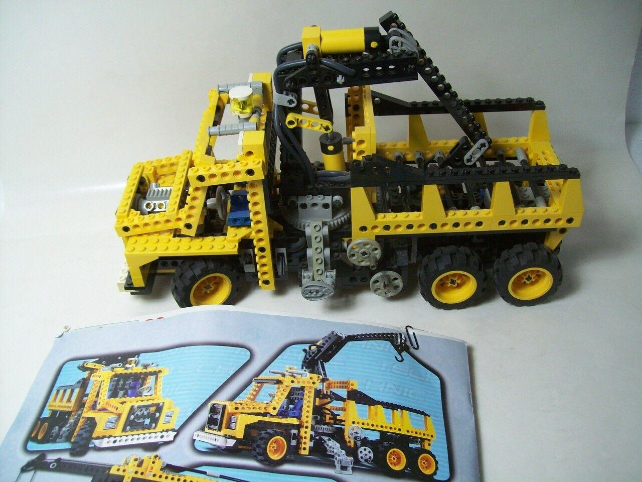 Lego Technic 8431 8431 8431 LKW mit Ladekran Truck + Bauanleitung Kran Restmaterial 4a8ece