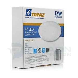 Topaz Dimmable Thin Led Surface Mount Disk Light Junction