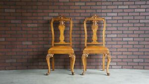 Image Is Loading Antique French Carved Chairs Provincial Pair