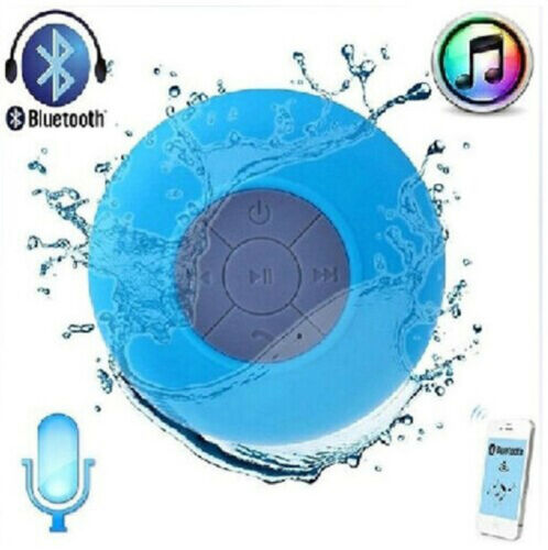 BTS-06 Shower Waterproof Bluetooth Speaker Wireless Mini USB Charger Black