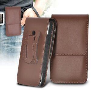 Vertical-bolsa-de-Calidad-de-clip-de-cinturon-pistolera-Top-Abatible-Estuche-Soporte-Marron