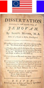 Details about 1760 SAMUEL MATHER ON THE NAME OF JEHOVAH New England Bible  cotton witch trials