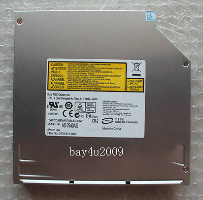 SONY NEC Optiarc AD-7640S SATA Slot in DL DVD±R/RW RAM Burner Drive 12.7mm