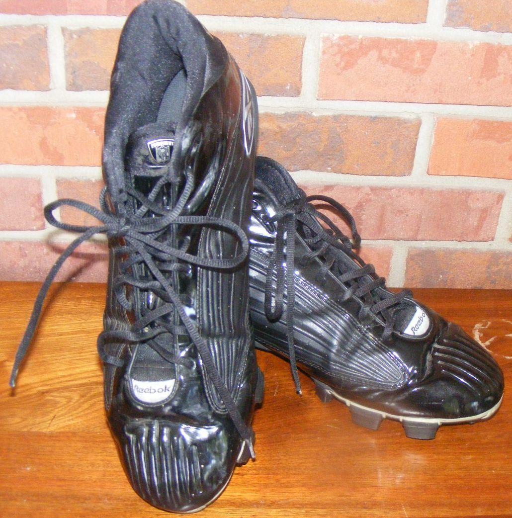 Men's Reebok NFL Black Cleats Cleat shoes US Size 14