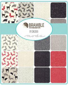 Moda-Bramble-5-034-Charm-Pack-Fabric-Quilting-Squares-48280PP-SQ70