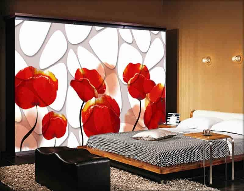 Gorgeous Red pink 3D Full Wall Mural Photo Wallpaper Printing Home Kids Decor