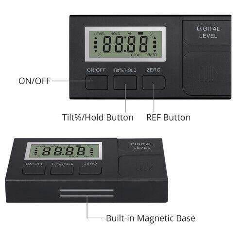 Mini inclinomètre numérique boîte de niveau rapporteur d/'angle aimant de mesure