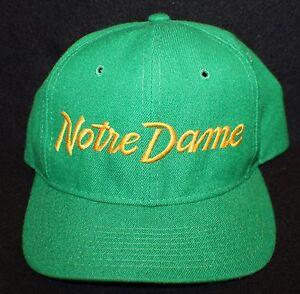 Vintage-Notre-Dame-Sports-Specialties-Script-NCAA-Snapback-Hat-Cap-Rudy-The-Pro