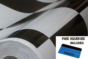 Mini Cooper Roof Vinyl Car Wrap Printed Black White