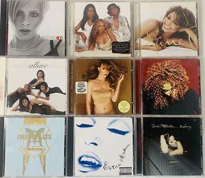 90s 00's R&B Soul Easy Listening CD Lot of 9 - Janet Jackson, Madonna, Mariah