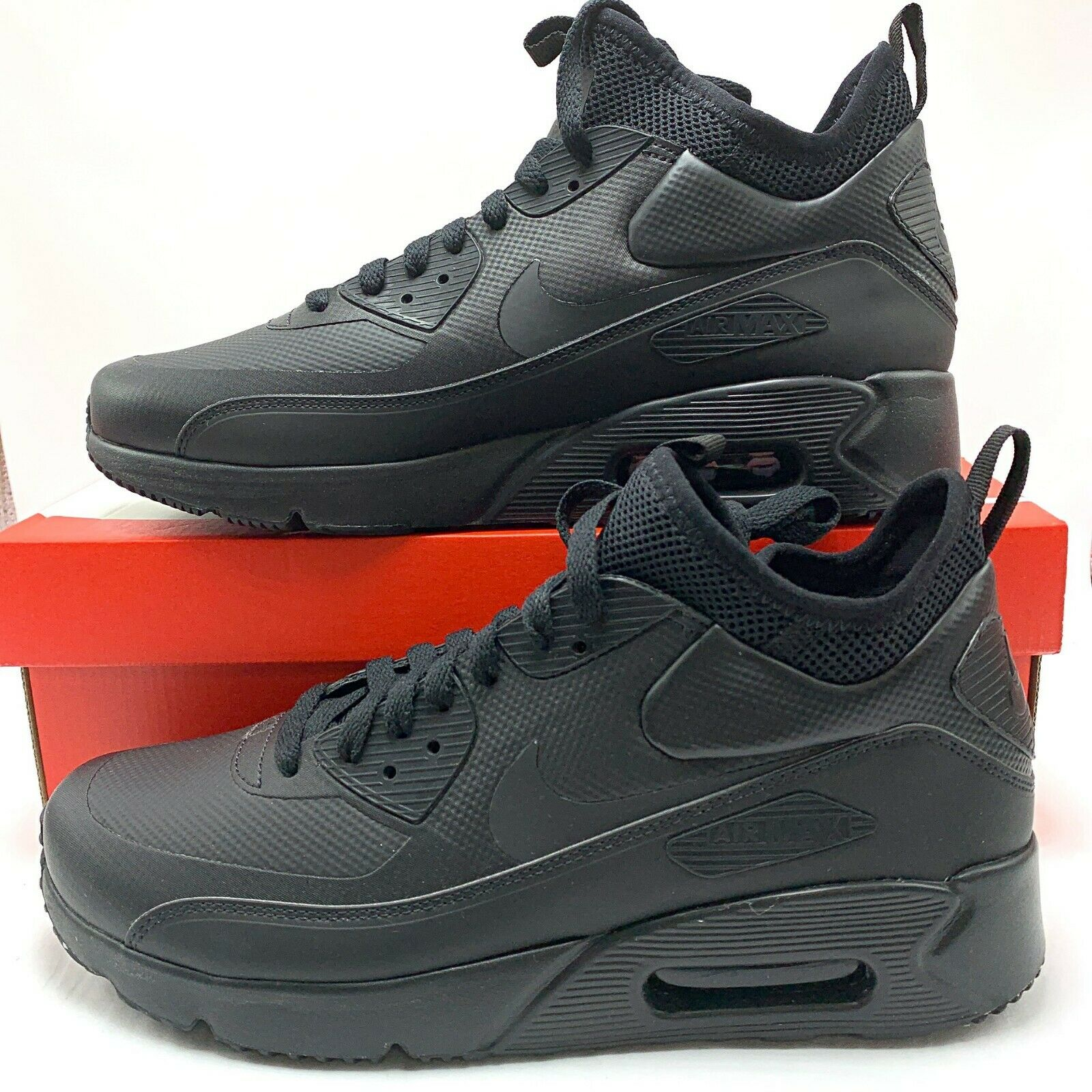 Nike Air Max 90 Ultra Mid Winter Blackanthracite 924458 004 Size 9.5 US