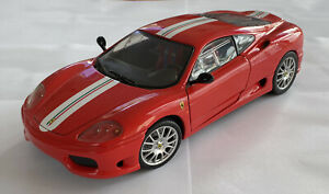1-18-2003-VINTAGE-HotWheels-FERRARI-F360-360-CS-CHALLENGE-STRADALE-rosso-in-scatola