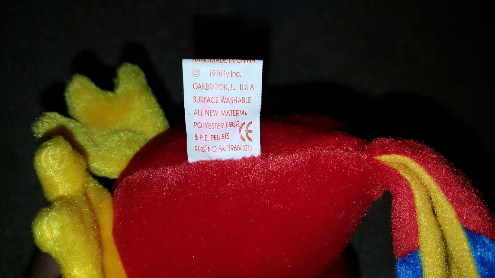 Ty Ty Ty beanie baby jabber parred WITH ERRORS mint condition e640a6